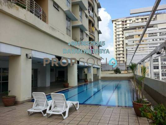 Condominium For Sale in Warisan Cityview, Cheras Freehold Semi Furnished 3R/2B 480k