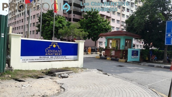 Apartment For Sale in Cendana Apartment, Bandar Sri Permaisuri Freehold Semi Furnished 3R/2B 228k