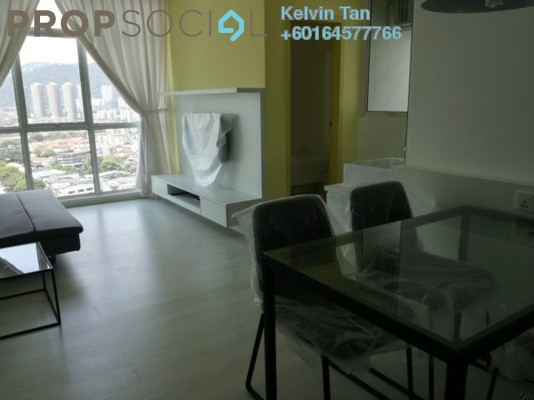 Apartment For Rent in Straits Garden, Jelutong Freehold Fully Furnished 2R/1B 1.5k