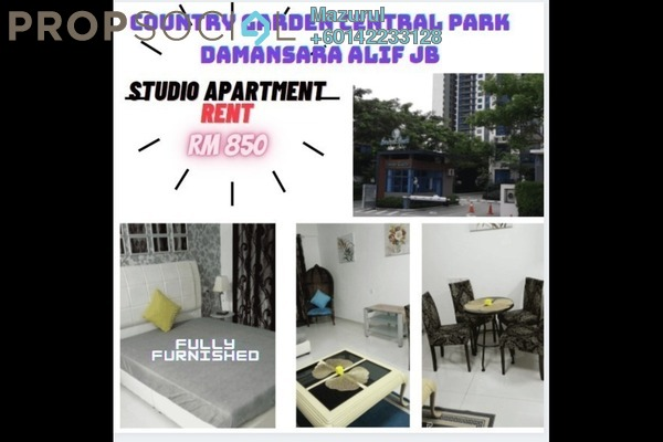 Condominium For Rent in Country Garden Central Park, Johor Bahru Freehold Fully Furnished 1R/1B 850translationmissing:en.pricing.unit