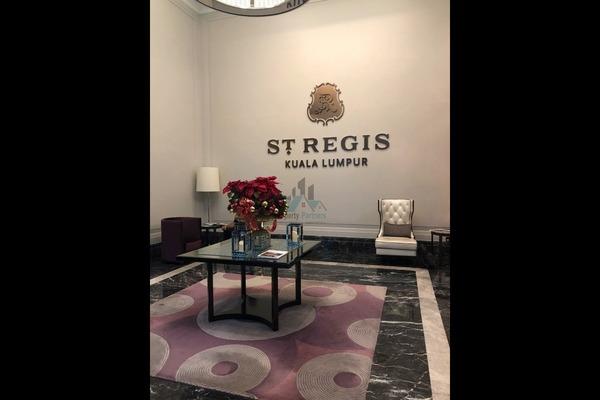 Serviced Residence For Rent in St Regis Residences, KL Sentral Freehold Semi Furnished 3R/4B 25k