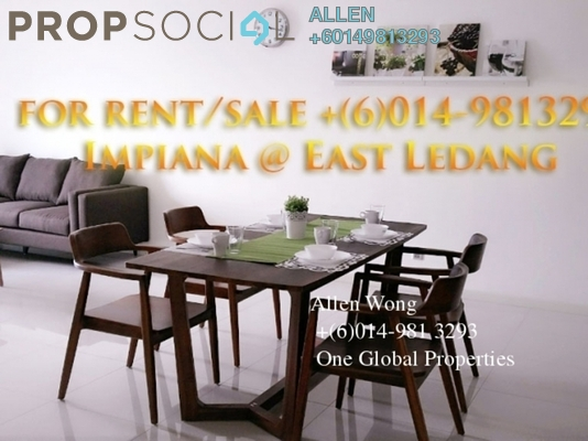 Condominium For Rent in Impiana Residences, Iskandar Puteri (Nusajaya) Freehold Fully Furnished 3R/3B 1.99k
