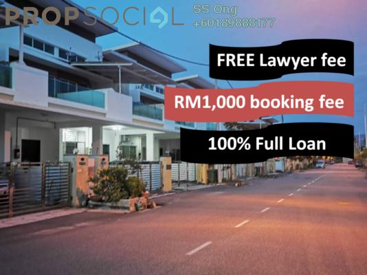 Terrace For Sale in Prestige III, Balik Pulau Freehold Unfurnished 4R/3B 580k