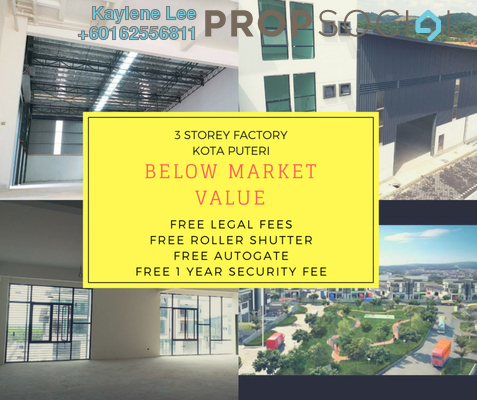 Factory For Sale in Nouvelle Industrial Park, Kota Puteri Leasehold Unfurnished 0R/7B 2.31m