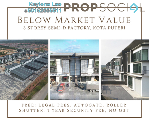 Factory For Sale in Nouvelle Industrial Park, Kota Puteri Leasehold Unfurnished 0R/7B 2.32m