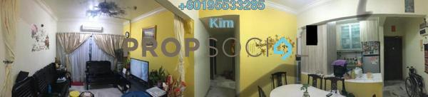 Apartment For Sale in Abadi Indah Apartment, Taman Desa Leasehold Semi Furnished 3R/2B 330k