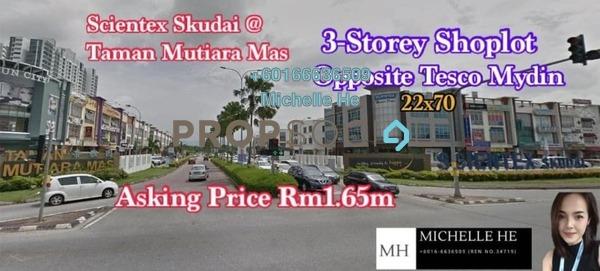 Shop For Sale in Taman Mutiara Mas, Skudai Freehold Unfurnished 0R/2B 1.65m