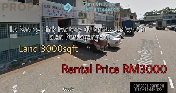 Factory For Rent in Taman Universiti, Skudai Freehold Unfurnished 0R/0B 3k