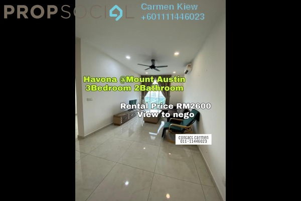 Apartment For Rent in Havona, Tebrau Freehold Fully Furnished 3R/2B 2.6k