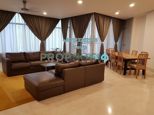 Condominium For Rent in The Troika, KLCC Freehold Fully Furnished 3R/3B 9k