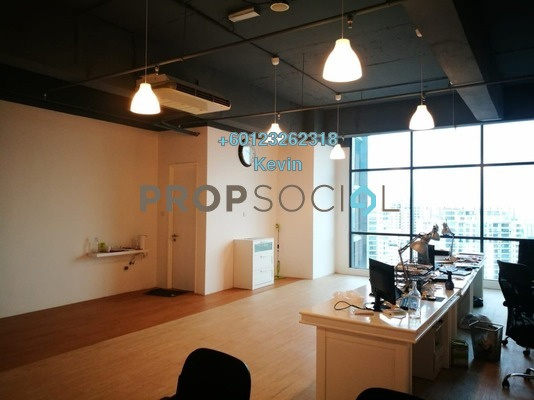 Office For Rent in Vertical Suites, Bangsar South Freehold Semi Furnished 0R/1B 4k