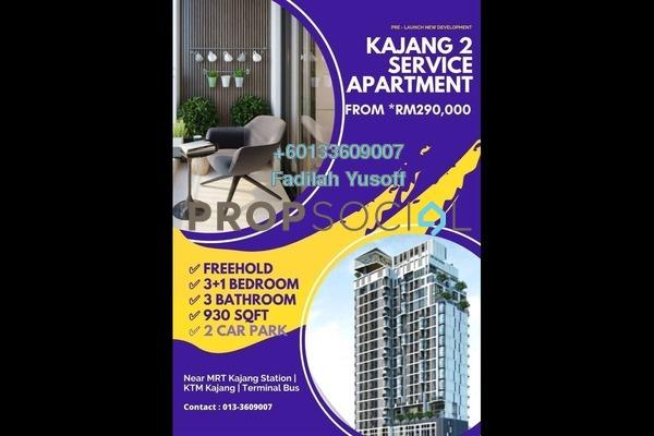 Apartment For Sale in Kajang 2, Kajang Freehold Unfurnished 3R/3B 290k