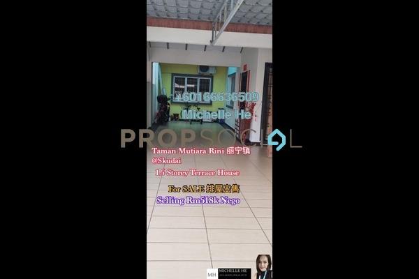 Terrace For Sale in Taman Mutiara Rini, Skudai Freehold Semi Furnished 4R/2B 518k