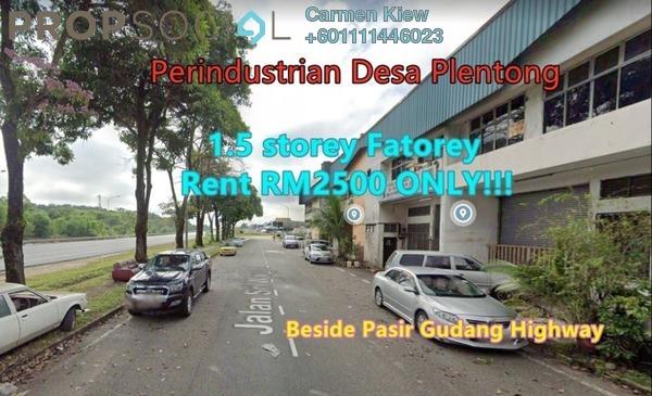 Factory For Rent in Desa Plentong Industrial Park, Bandar Baru Permas Jaya Freehold Semi Furnished 0R/0B 2.5k