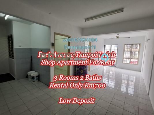 Apartment For Rent in Taman Tampoi Indah, Johor Bahru Freehold Unfurnished 3R/2B 700translationmissing:en.pricing.unit