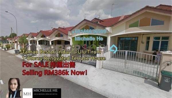 Terrace For Sale in Taman Bestari Indah, Ulu Tiram Freehold Semi Furnished 3R/2B 368k