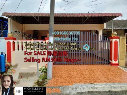 Terrace For Sale in Taman Senai Utama, Senai Freehold Semi Furnished 3R/2B 340k