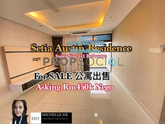 Serviced Residence For Sale in Seri Austin Residence, Seri Austin Freehold Semi Furnished 4R/3B 450k