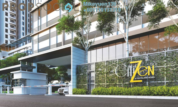 Condominium For Sale in CitiZen, Old Klang Road Freehold Unfurnished 3R/2B 568k