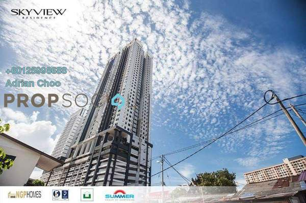 Condominium For Sale in Skyview Residence, Jelutong Freehold Unfurnished 4R/2B 680k