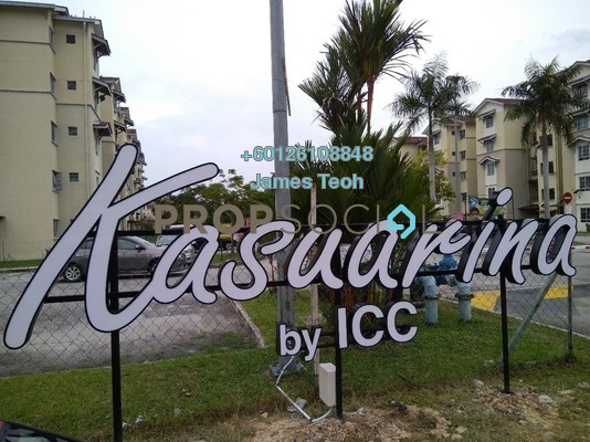 Apartment For Sale in Kasuarina Apartment, Klang Freehold Semi Furnished 3R/2B 280k