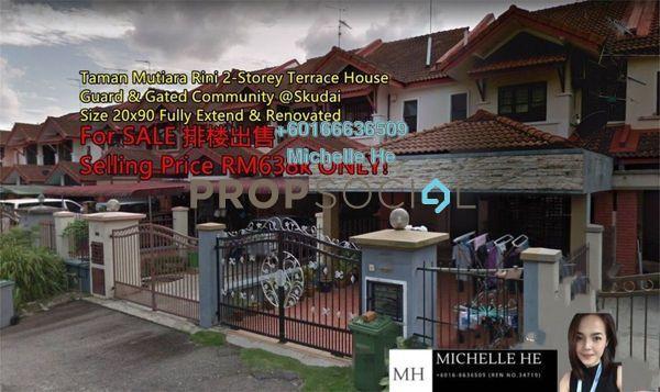 Terrace For Sale in Taman Mutiara Rini, Skudai Freehold Semi Furnished 4R/4B 638k