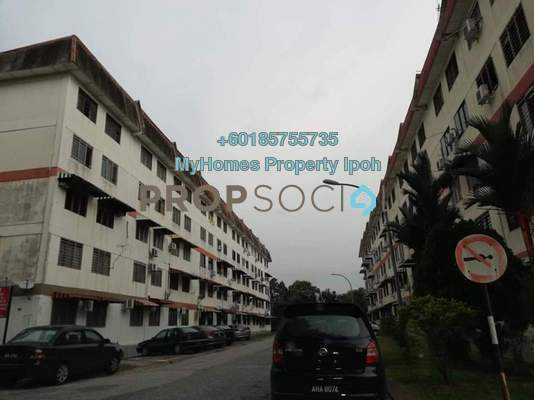 Apartment For Rent in Taman Bercham Baru, Ipoh Freehold Unfurnished 2R/1B 500translationmissing:en.pricing.unit