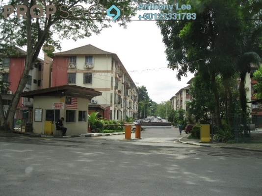 Apartment For Rent in Rampai Court, Setapak Freehold Semi Furnished 2R/1B 1k