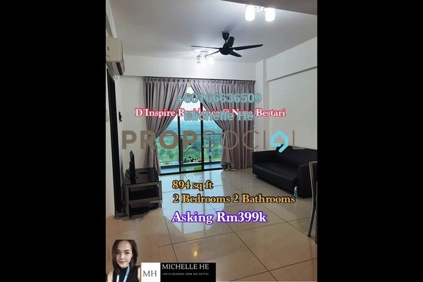 Condominium For Sale in D'Inspire Residence, Skudai Freehold Fully Furnished 2R/2B 399k