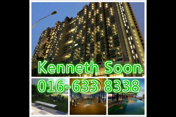 Condominium For Sale in The Leafz, Sungai Besi Freehold Semi Furnished 2R/2B 610k