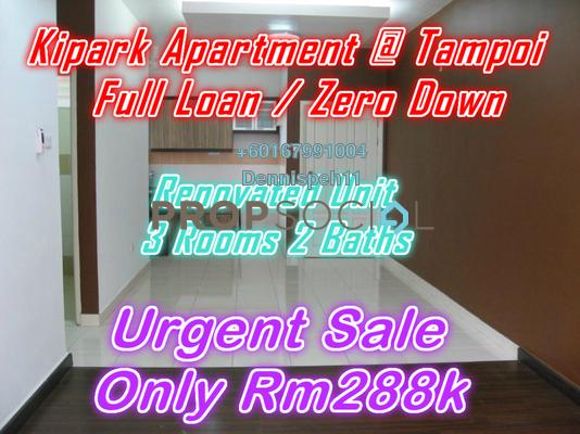 Apartment For Sale in KiPark, Johor Bahru Leasehold Unfurnished 3R/2B 288k