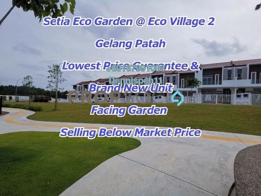 Terrace For Sale in Setia Eco Gardens, Gelang Patah Freehold Unfurnished 4R/3B 590k
