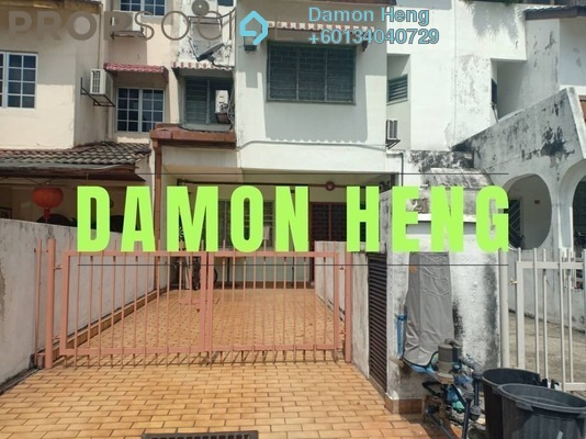 Townhouse For Rent in Happy Garden, Old Klang Road Freehold Semi Furnished 3R/2B 1.5k