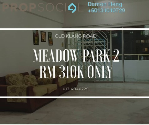 Condominium For Sale in Meadow Park 2, Old Klang Road Freehold Semi Furnished 3R/2B 310k