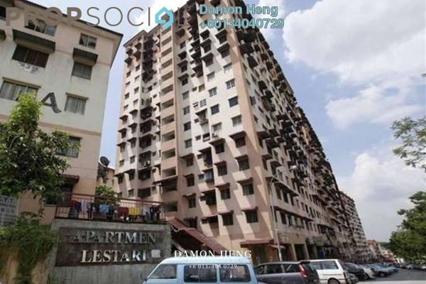 Apartment For Sale in Lestari Apartment, Damansara Damai Leasehold Semi Furnished 3R/2B 105k