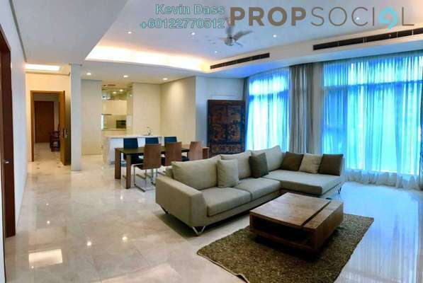 Condominium For Rent in Quadro Residences, KLCC Freehold Fully Furnished 4R/3B 10k