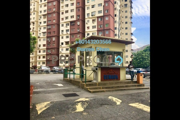 Apartment For Rent in Cemara Apartment, Bandar Sri Permaisuri Freehold Unfurnished 3R/2B 1k