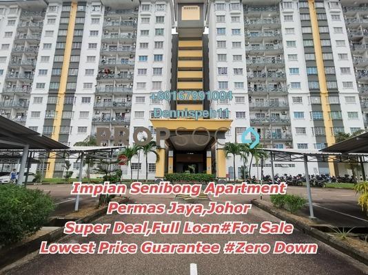 Condominium For Sale in Impian Senibong, Bandar Baru Permas Jaya Freehold Unfurnished 3R/2B 248k