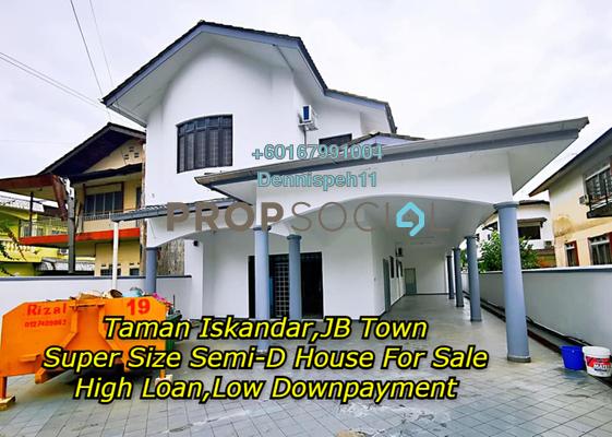 Semi-Detached For Sale in Taman Iskandar, Johor Bahru Freehold Unfurnished 6R/4B 850k