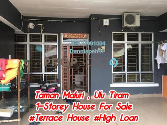 Terrace For Sale in Taman Dato Chellam, Ulu Tiram Freehold Unfurnished 3R/2B 338k