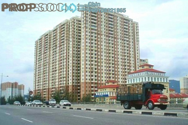 Apartment For Sale in Mutiara Heights, Jelutong Freehold Semi Furnished 3R/2B 360k