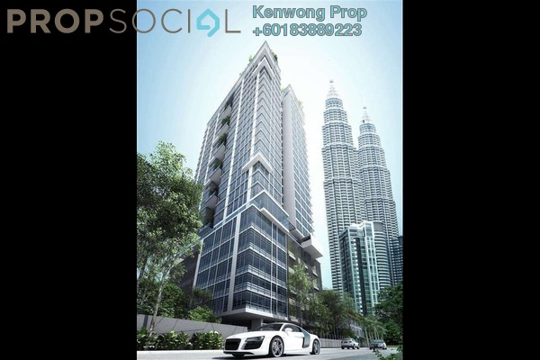 Condominium For Rent in Mirage Residence, KLCC Freehold Fully Furnished 3R/2B 5.8k
