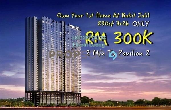 Condominium For Sale in Vista Komanwel, Bukit Jalil Leasehold Unfurnished 3R/2B 300k