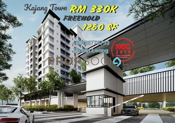 Condominium For Sale in Taman Kajang Mewah, Kajang Freehold Semi Furnished 4R/2B 330k