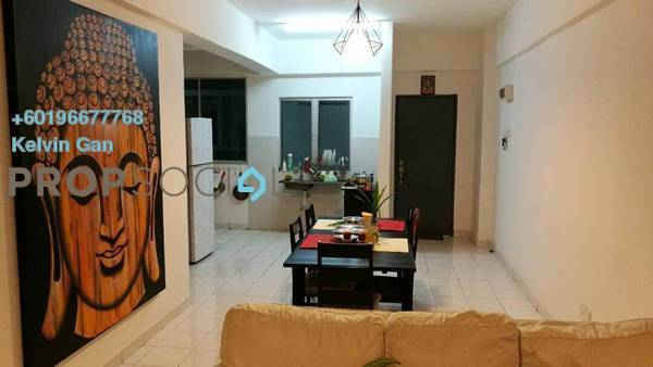 Apartment For Rent in Palm Garden Apartment, Klang Freehold Semi Furnished 3R/2B 1.2k