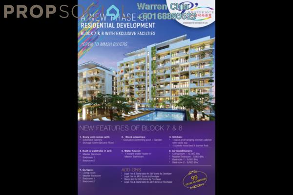 Condominium For Sale in P'Residence, Batu Kawa Freehold Fully Furnished 3R/2B 560k
