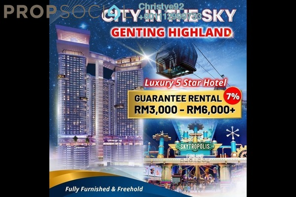Serviced Residence For Sale in Grand Ion Majestic, Genting Highlands Freehold Fully Furnished 3R/2B 1.05m