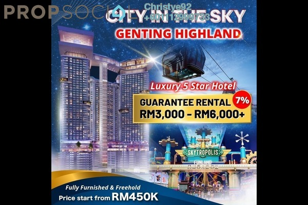 Serviced Residence For Sale in Grand Ion Majestic, Genting Highlands Freehold Fully Furnished 1R/1B 450k