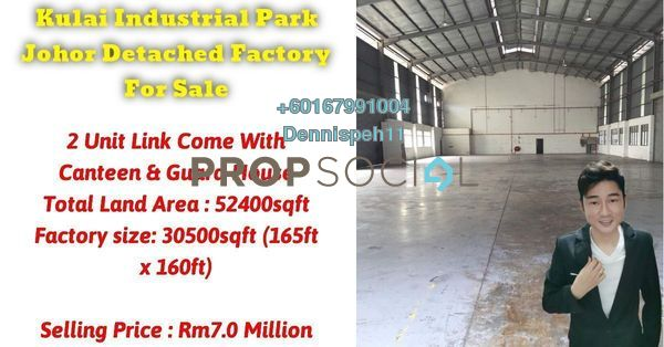 Factory For Sale in Taman Industri Kulai, Kulai Freehold Unfurnished 0R/10B 7m