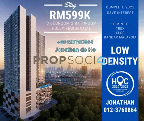 Condominium For Sale in Damai Residence, Sungai Besi Freehold Semi Furnished 3R/2B 599k